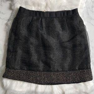 Ann Taylor Loft Mesh Overlay Skirt
